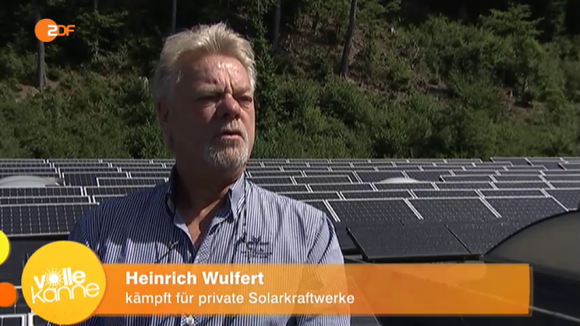 "Screenshot // ZDF, ""Volle Kanne"", Heinrich Wulfert im Interview"
